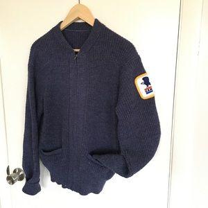 Vintage USPS Postal Service Wool Cardigan Sweater